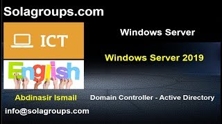 Windows Server 2019 Domain Controller and Active Directory