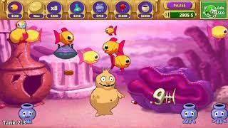 My Mad Fish Deluxe, Insaniquarium Mobile Gameplay, Tank 2-3 - 3-2