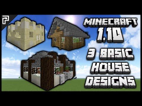 Minecraft 1.10 | 3 Basic Starter House Designs w/Tutorials! (How To Build) | PythonGB