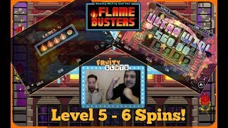 FLAMEBUSTERS SLOT EPIC WIN  - LEVEL 5 WITH A DREAM! (online casino)