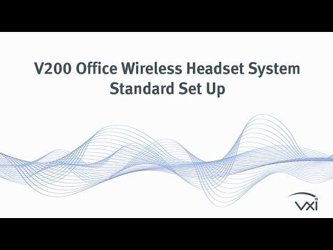 VXi V200 Office Wireless Headset System: Standard Set Up