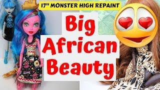 AFRICAN BEAUTY MONSTER HIGH DOLL REPAINT / HOW TO CUSTOMIZE DOLLS / DRAWING SPEEDPAINT TUTORIAL #art