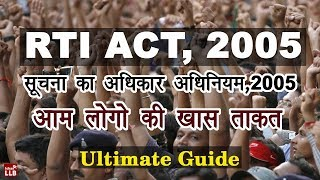 Right to Information Act, 2005 | RTI in Hindi | By Ishan