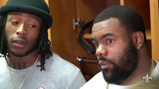 Alvin Kamara and Mark Ingram on Win Over The Panthers | Saints vs Panthers Week 13 | Dec 3, 2017