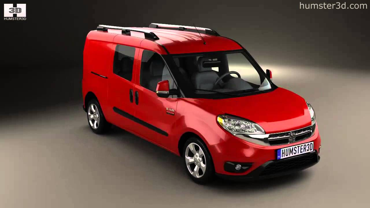 Dodge Ram Pro Master City Wagon 2015 by 3D model store Humster3D.com - YouTube