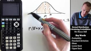 Normal Distribution: Calculating Probabilities {TI 84 Plus CE}