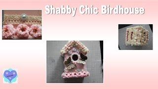 Shabby Chic Birdhouse/vogelhaus - Watch Me Craft