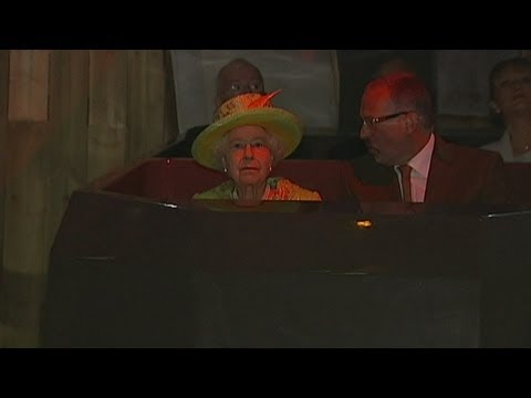 Queen takes a ride as she tours Titanic Belfast visitor centre