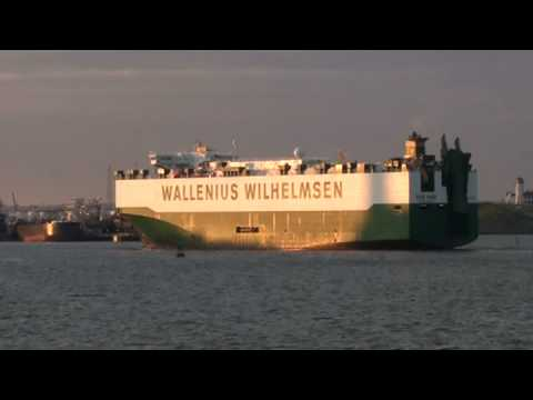 """The M/S """"Don Juan"""" in NY harbor, RoRo shipping"""