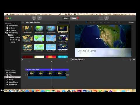 Using iMovie to Create an Animated Map