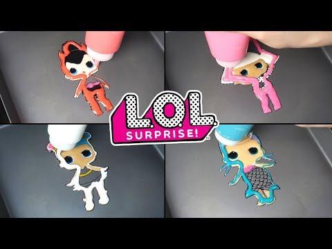 LOL Surprise! Dolls Pancake Art&Unboxing - DIVA, SPICE ,SUGAR , Merbaby #1