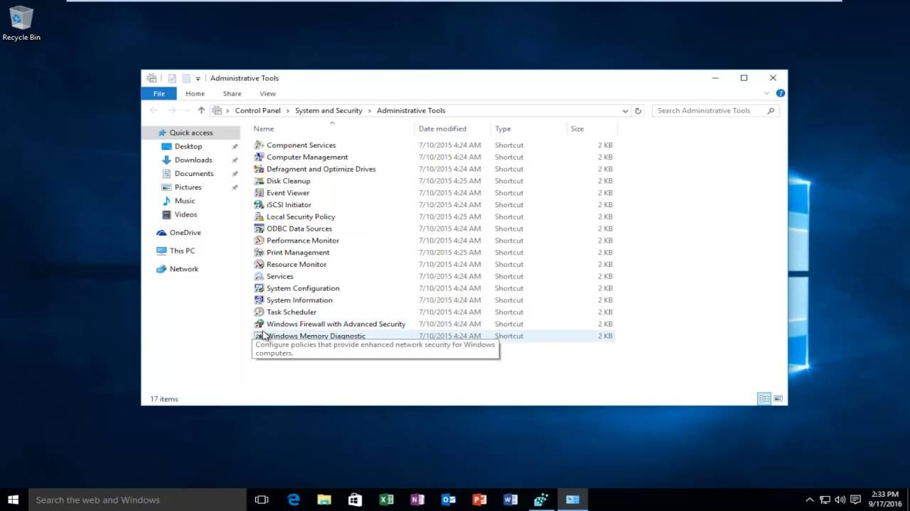 How To See List Of Administrative Tools In Windows 10