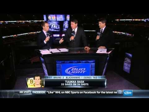 NBC Sports Post Game Report part 4. 6/15/13 Boston Bruins vs Chicago Blackhawks NHL Hockey