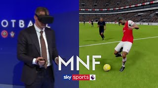 Jamie Carragher uses VR to analyse Aubameyang's goal against Everton | MNF