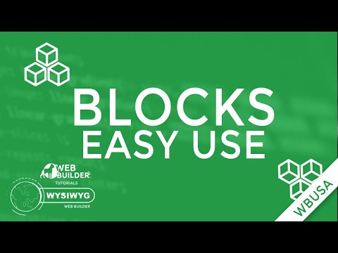 How to create your own Blocks on WYSIWYG Web Builder 12