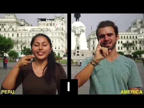 The Alphabets Of Peru Sign Language -