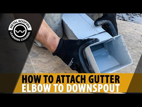 How To Install Downspout Elbow On A Gutter System Downspout Elbow Installation On A Box Gutter Youtube