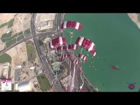 Qatar National Day 2013 + Katara Beach Skydiving Demos