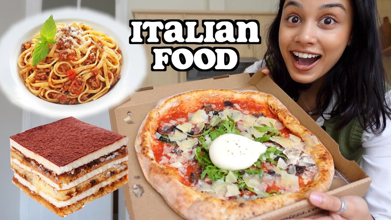i only ate ITALIAN FOOD for 24 hours | clickfortaz