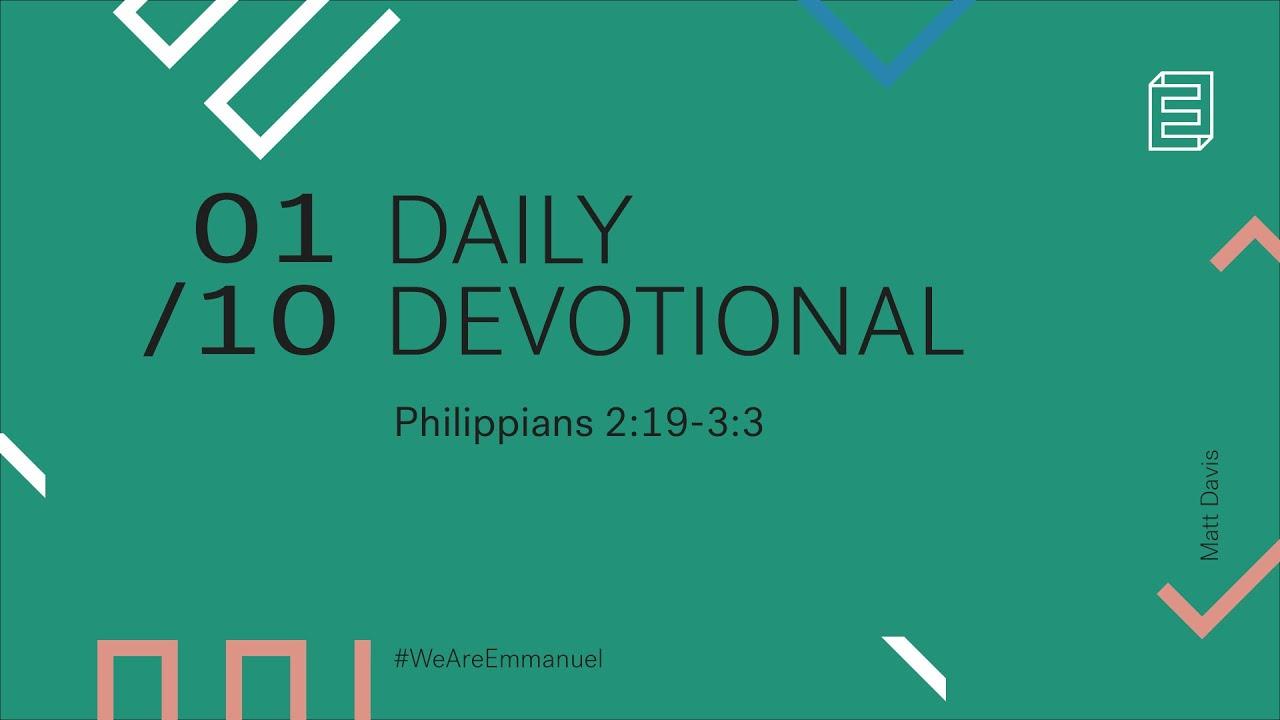 Daily Devotional with Matt Davis // Philippians 2:19-3:3 Cover Image
