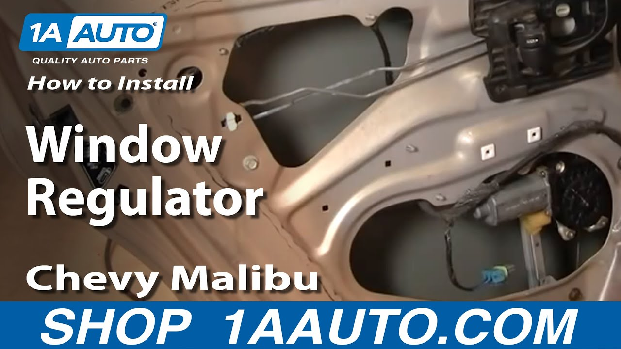 How To Replace Window Regulator 97 03 Chevy Malibu Youtube