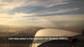 Short hop from Palo Alto (KPAO) to Tracy (KTCY) and Modesto (KMOD)