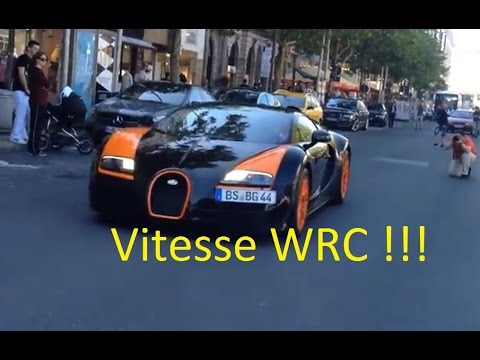 BUGATTI VEYRON GRAND VITESSE WRC EDITION IN HANNOVER - Startup, rev and accelerating!!