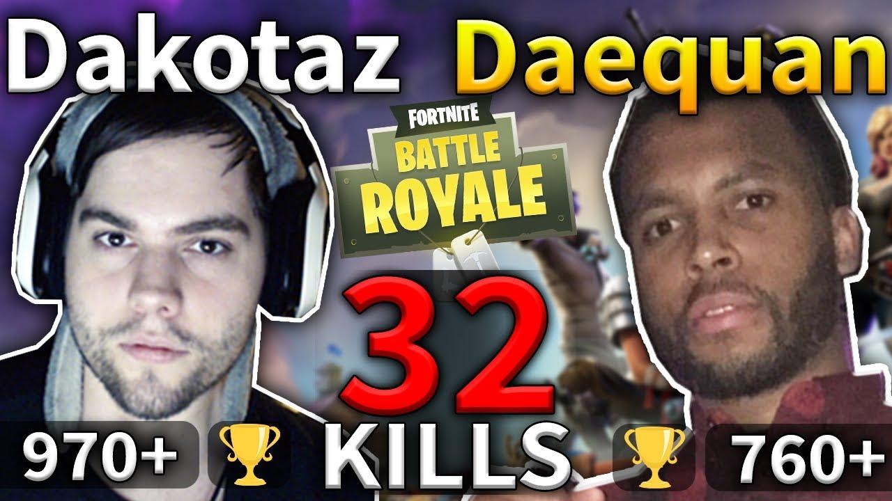 Dakotaz Daequan 32 Kills Squad Game 75 Fortnite Battle Royale