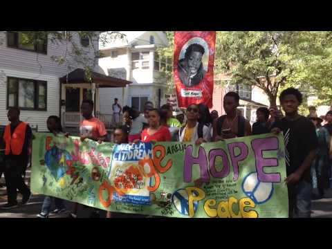 March against gun violence and for more youth jobs in Newhallville section of New Haven - 9/23/17