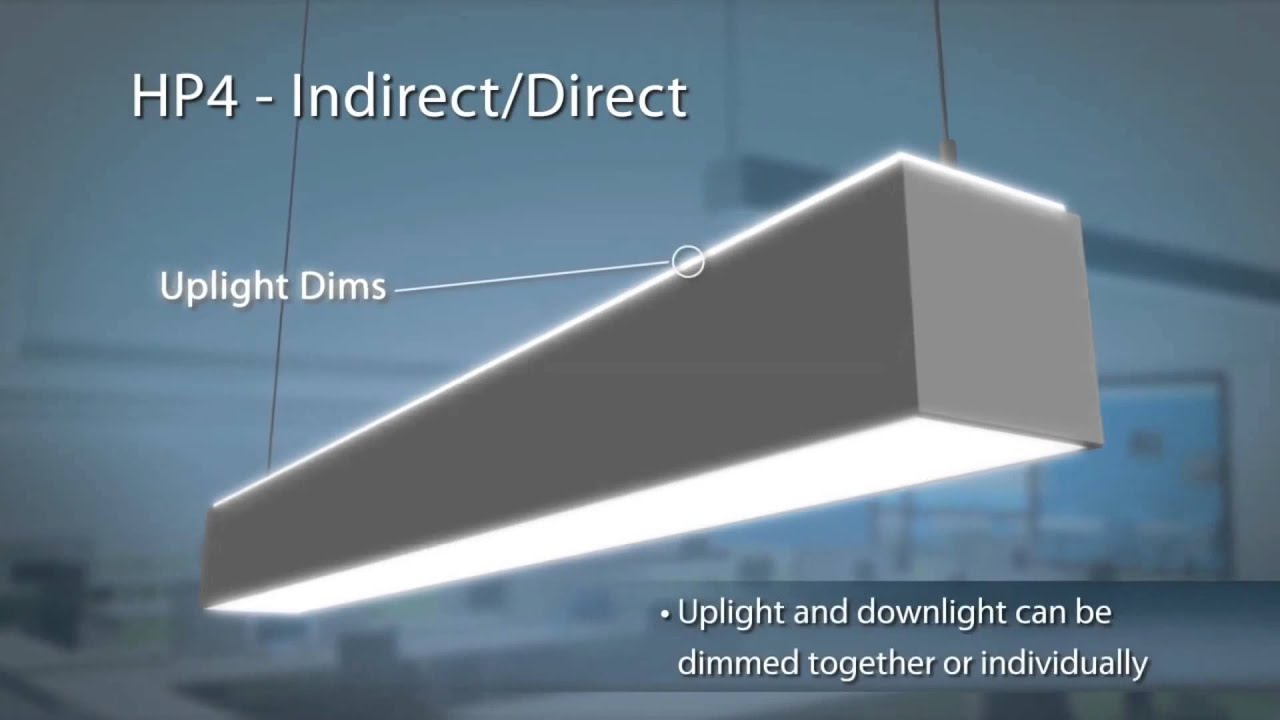 Suspended Lighting Fixtures With The Hp4 Indirectdirect Led Linear Suspended Office Lighting Fixture Youtube