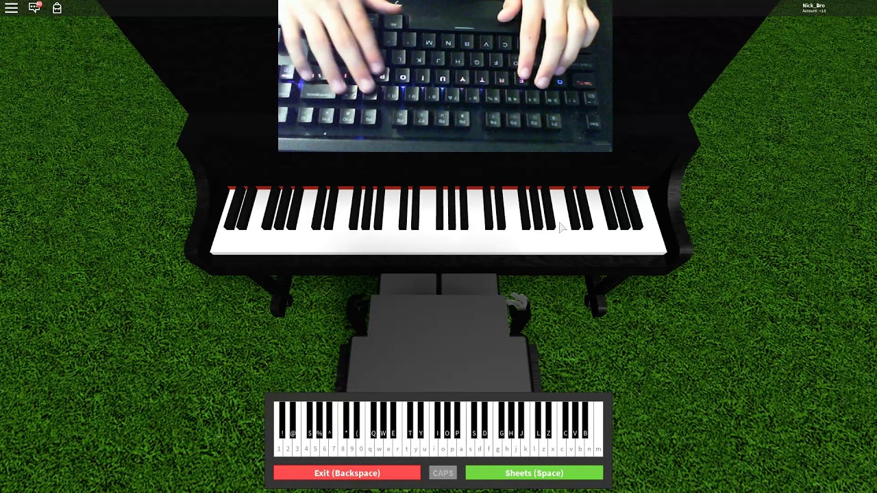 Roblox Virtual Piano Minecraft Song By C418 Sweat Hands Youtube