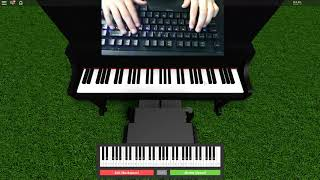 "Roblox/Virtual piano: Minecraft song by C418 ""Sweat hands"""