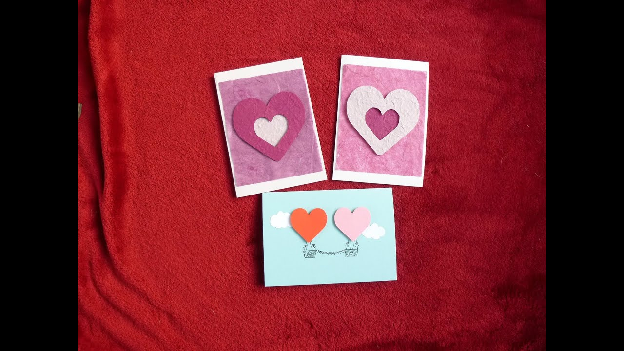 diy easy valentines day cards youtube - Valentine Day Cards For Kids