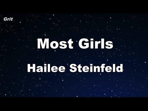 Most Girls - Hailee Steinfeld Karaoke 【No Guide Melody】 Instrumental
