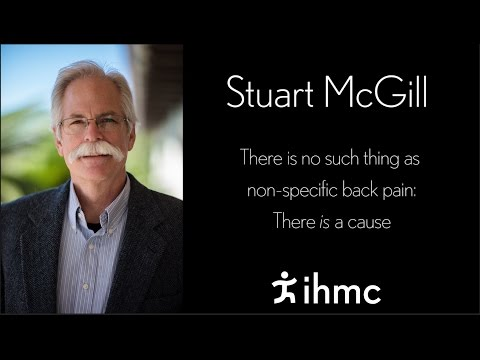 Stuart McGill - No such thing as non-specific back pain