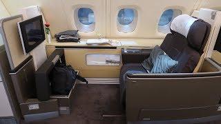 Lufthansa A380 First Class Frankfurt to Bangkok (+ First Class Terminal)