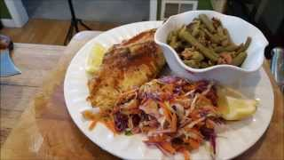How To Make Fried Catfish ,cole Slaw And Green Beans