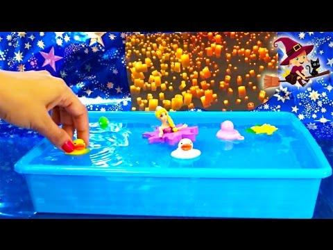 Rapunzel y Pascal Juguetes de baño