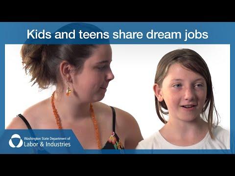Kids and teens share dream jobs