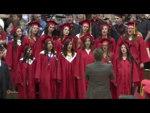 Huntington North High School graduation 2015 ~ Singing Friends