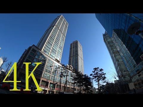 충정로역 주변 산책,   Walking around Chungjungro Station (Seoul, South Korea), 4K