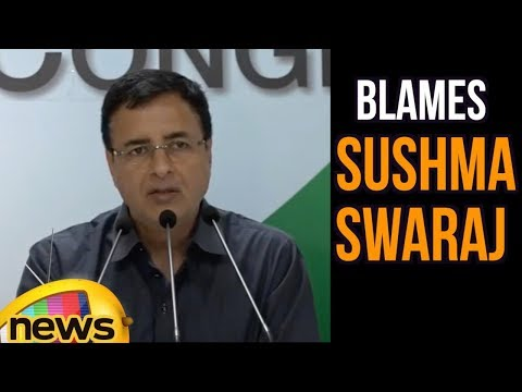 Randeep Surjewala Blames Sushma Swaraj Over Fake News Of 39 Indians Missing In Iraq | Mango News