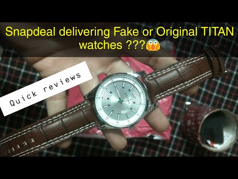 Titan Men's Watch Ordered From SNAPDEAL || Unboxing & Quick Review ||
