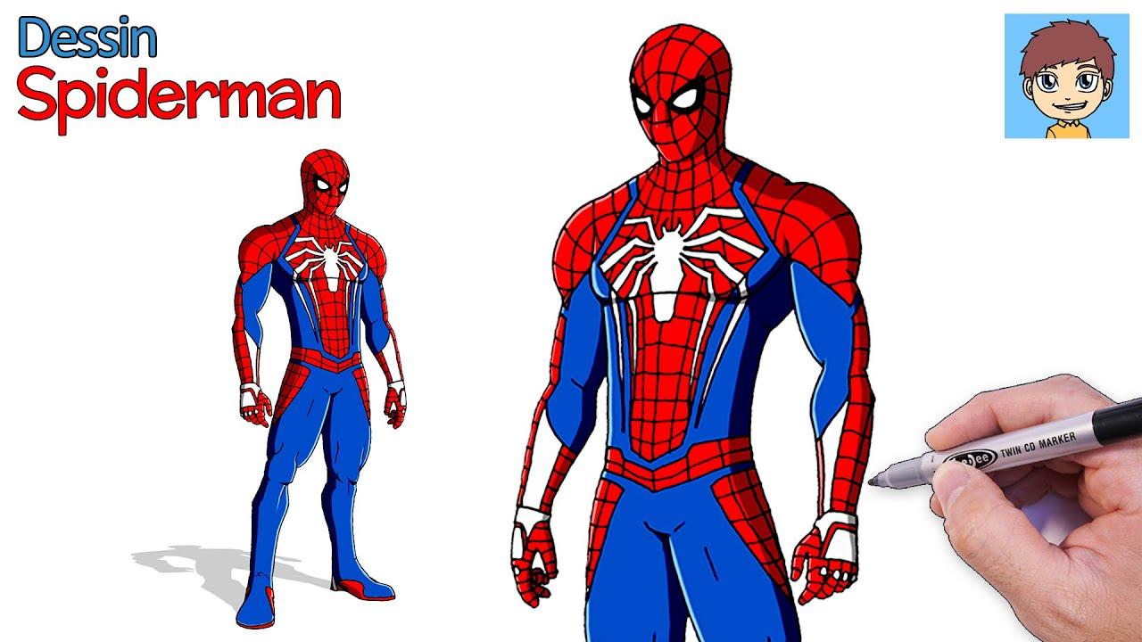 Comment Dessiner Spiderman Ps4 Facilement Dessin Facile A Faire Dessin Spiderman