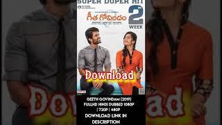 Geetha Govindam Hindi Dubbed Download FullHD #GeethaGovindDownload #HindiDubbed