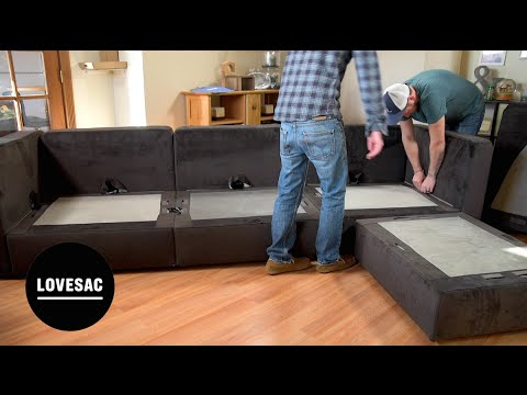 lovesac modular furniture assembly tips tricks review - Lovesac Sofa