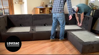 Lovesac Modular Furniture!! Assembly Tips, Tricks & REVIEW!
