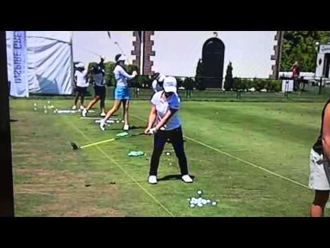 Brandel Chamblee and Lucas Wald segment with Sei Young Kim