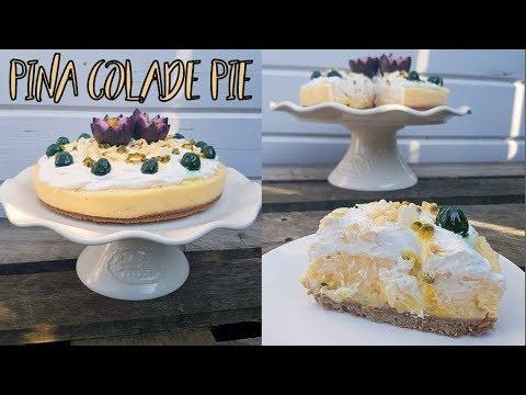8 Ingredient No-Bake Pina Colada Pie 🍍🍸Easy & Vegan