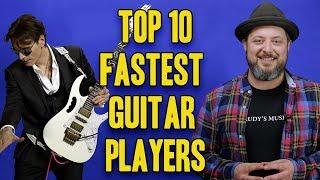 Top 10 Fastest Guitar Players   Marty Schwartz